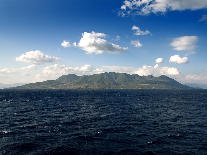 The Methana peninsula from the ship