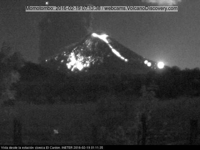 Eruption of Momotombo this morning