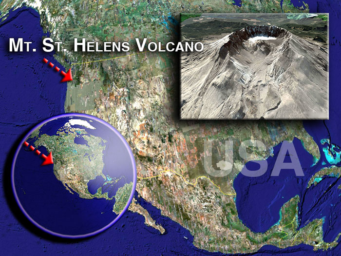 Satellite images of Mt.St. Helens by (c) Google Earth View