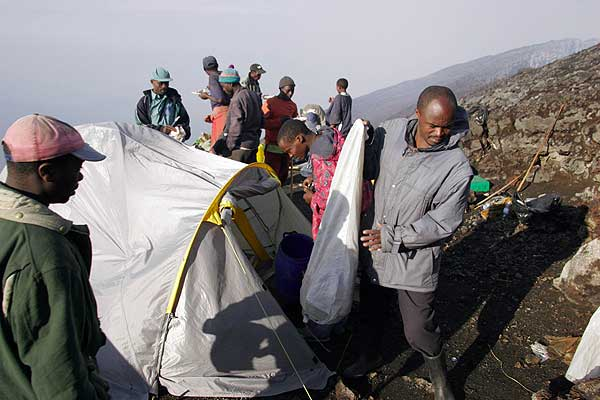 Dismantling the camp