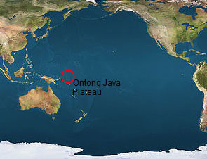Location of the Ontong Java Plateau