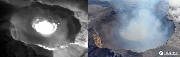 The lava dome inside Popo's inner summit crater (CENAPRED)