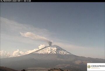 Ash emissions from Popocatépetl volcano (image: CENAPRED)