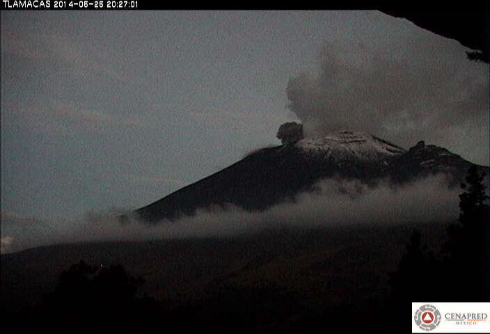 Small ash explosion at Popocatépetl yesterday