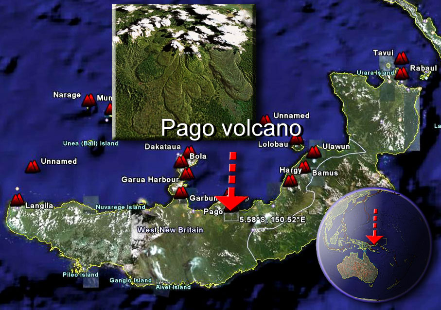 Pago volcano sat by (c) Google Earth View