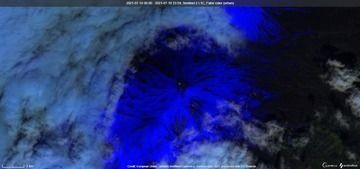 Satellite view of Pavlof volcano today (image: Sentinel 2)