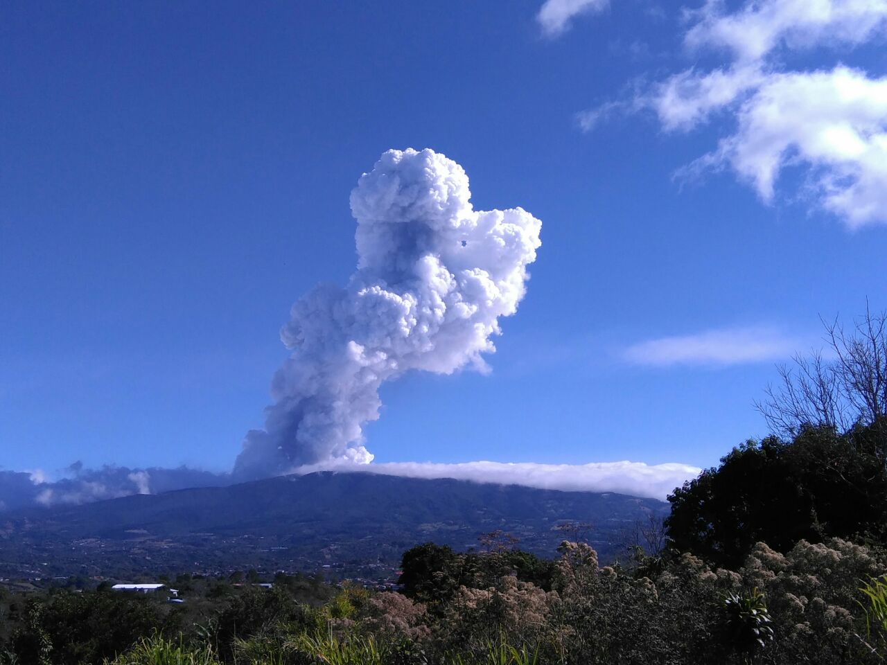 Poas Volcano Costa Rica Explosion On Friday Produces Plume Of 3 Km Height Volcanodiscovery