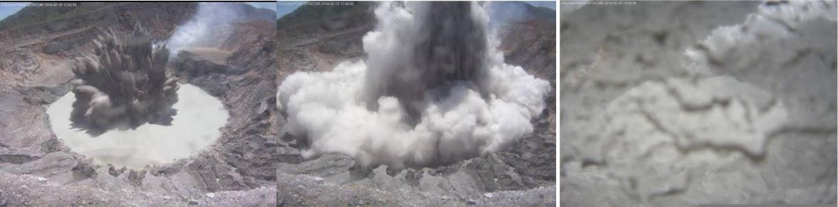 Phreatic eruption at Poás volcano yesterday (OVSICORI-UNA webcam)