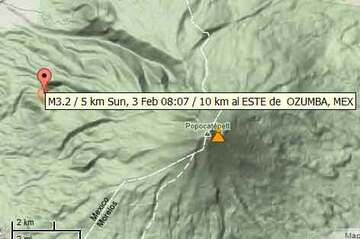 Location of the 3.2 magnitude earthquake yesterday morning