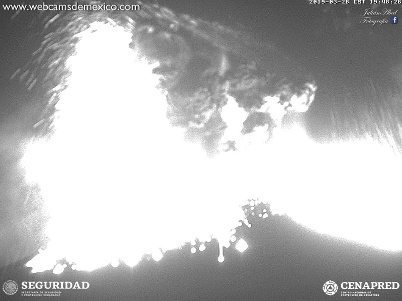 The first frame we could capture from the webcam shows bombs falling from several kilometers height!