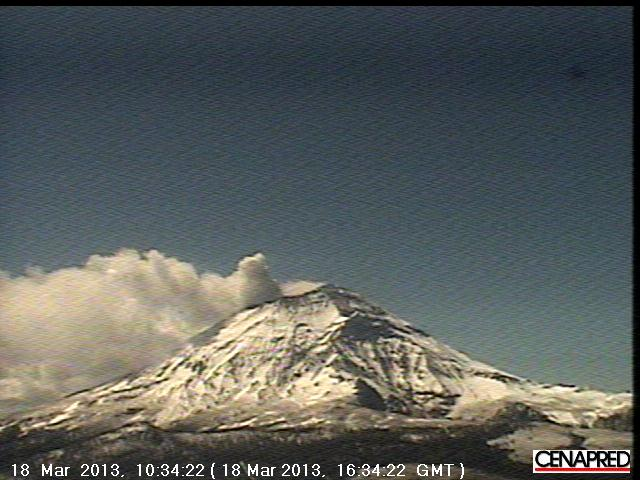 View of Popocatépetl this morning