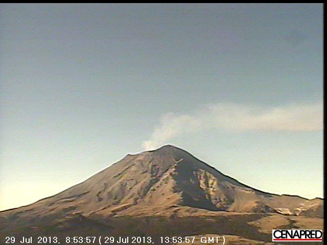 Gas plume from Popocatépetl