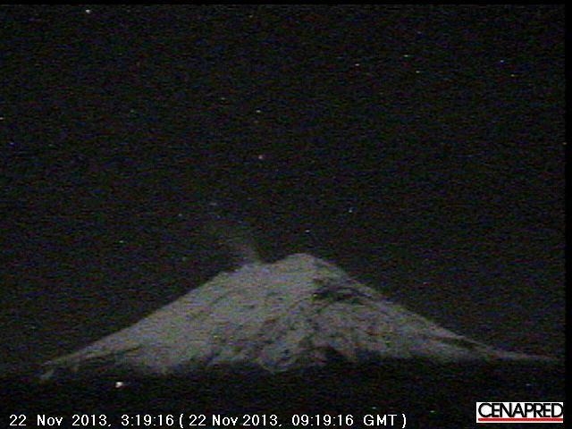 Popocatépetl this morning
