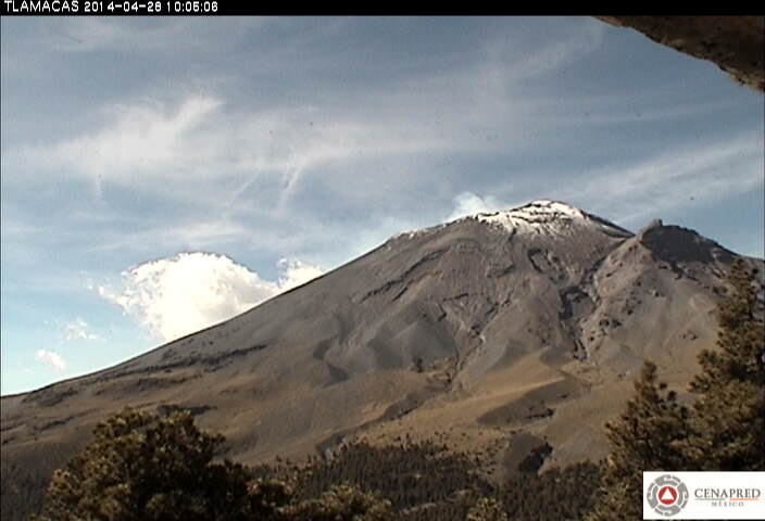 Current image of Popocatépetl (CENAPRED)