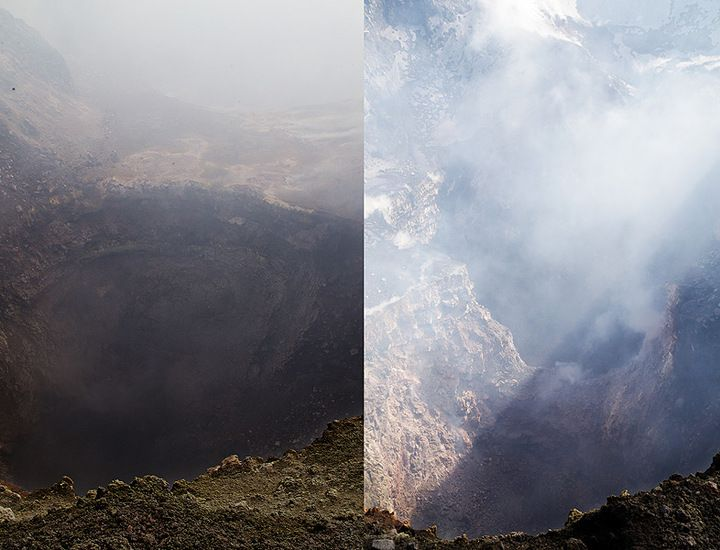 The Bocca Nuova before last week and now - there is now only a single pit