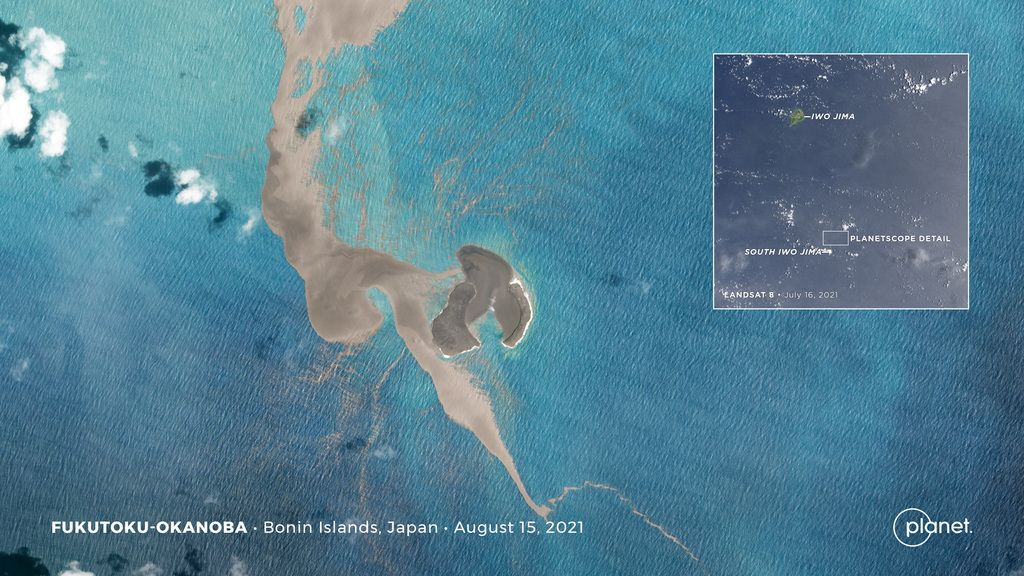 Pumice swirling trail in the Pacific Ocean from the space (image: @planet/twitter)
