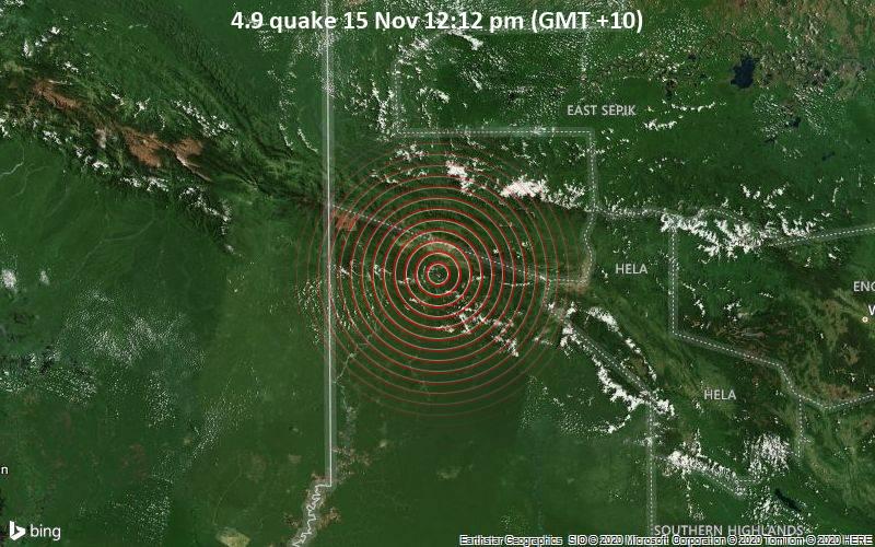 4.9 quake 15 Nov 12:12 pm (GMT +10)