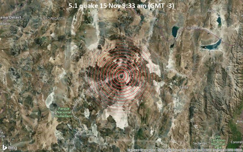 5.1 quake 15 Nov 9:33 am (GMT -3)