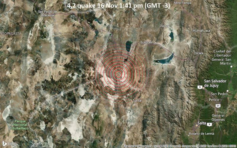 4.2 quake 16 Nov 1:41 pm (GMT -3)