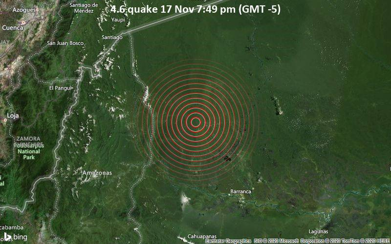 4.6 quake 17 Nov 7:49 pm (GMT -5)