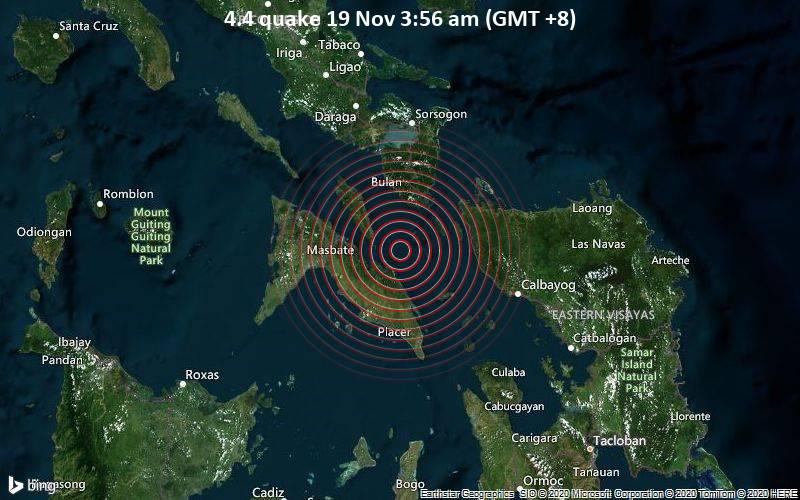 4.4 quake 19 Nov 3:56 am (GMT +8)