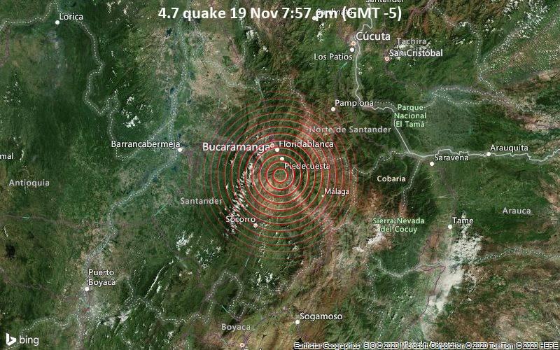4.7 quake 19 Nov 7:57 pm (GMT -5)