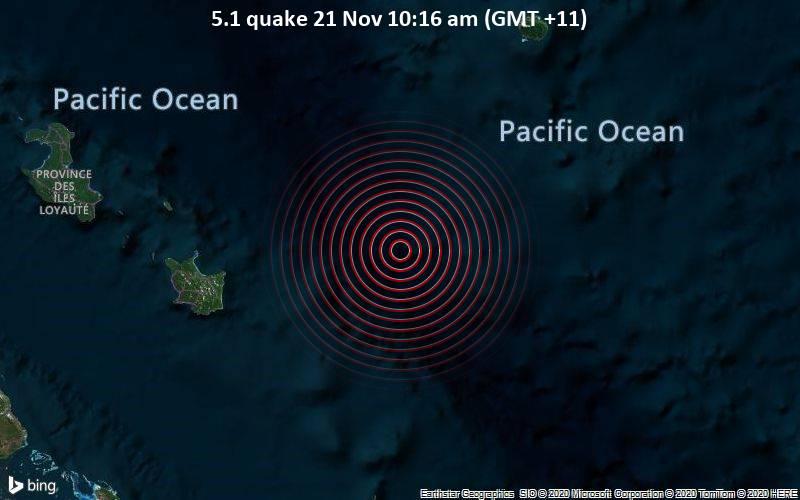 5.1 quake 21 Nov 10:16 am (GMT +11)