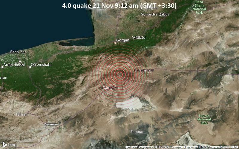 4.0 quake 21 Nov 9:12 am (GMT +3:30)