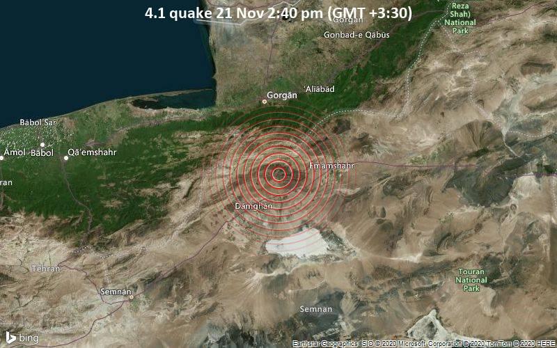 4.1 quake 21 Nov 2:40 pm (GMT +3:30)