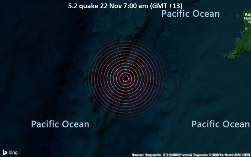 5.2 quake 22 Nov 7:00 am (GMT +13)