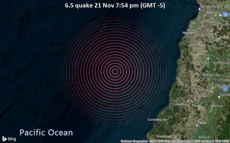 6.5 quake 21 Nov 7:54 pm (GMT -5)