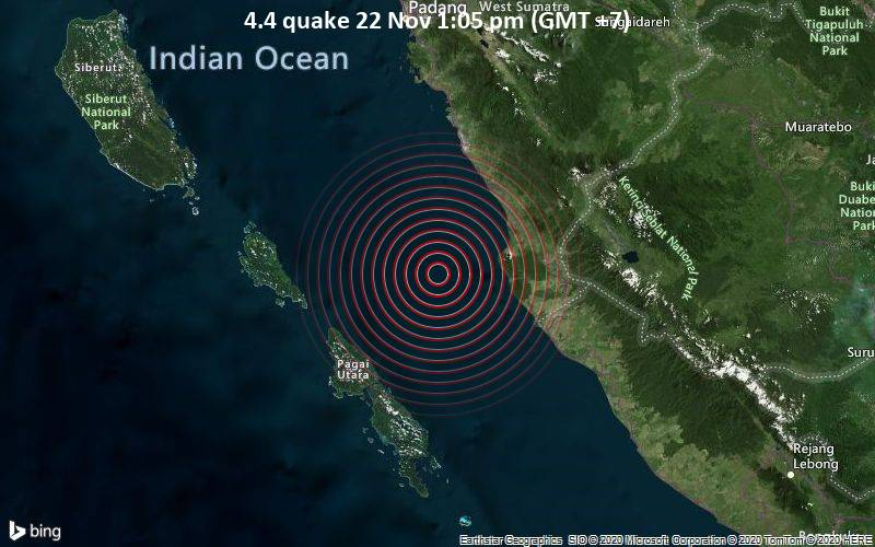 4.4 quake 22 Nov 1:05 pm (GMT +7)