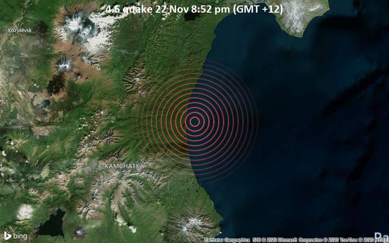 4.5 quake 22 Nov 8:52 pm (GMT +12)
