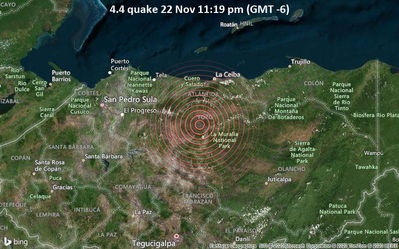 4.4 quake 22 Nov 11:19 pm (GMT -6)