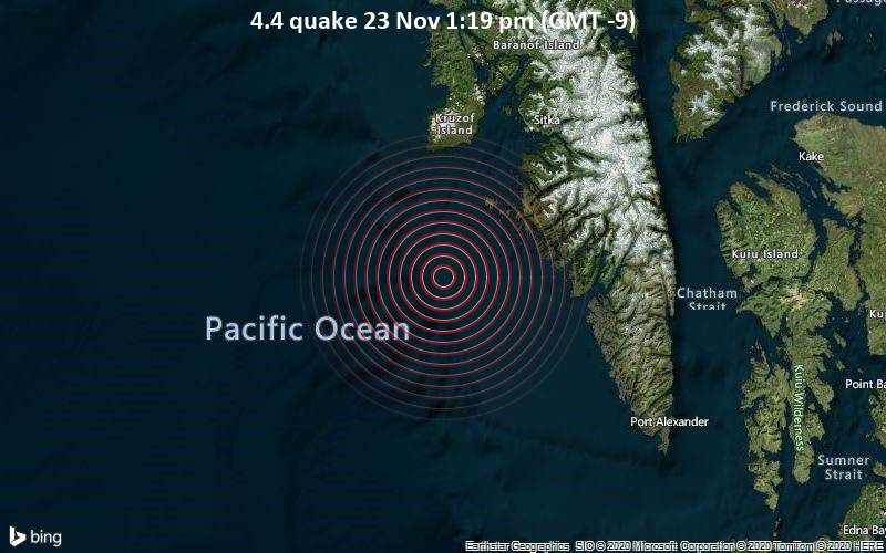 4.4 quake 23 Nov 1:19 pm (GMT -9)