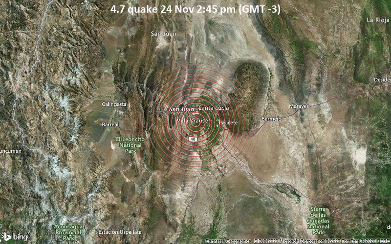 4.7 quake 24 Nov 2:45 pm (GMT -3)