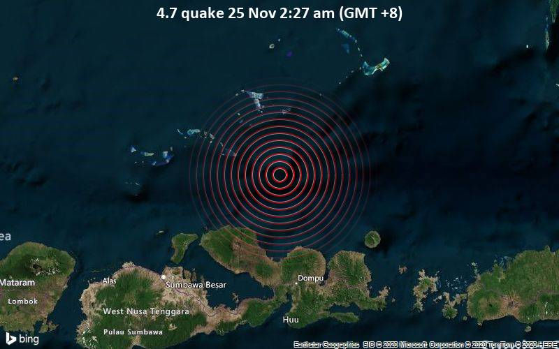 4.7 quake 25 Nov 2:27 am (GMT +8)