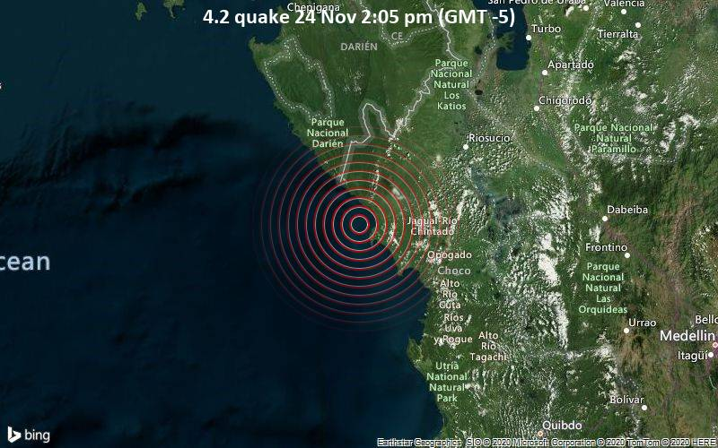 4.2 quake 24 Nov 2:05 pm (GMT -5)