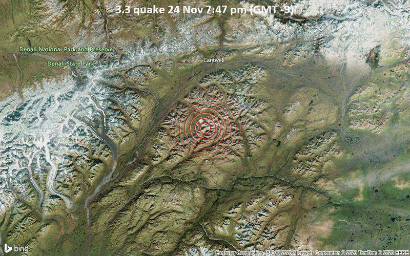 3.3 quake 24 Nov 7:47 pm (GMT -9)