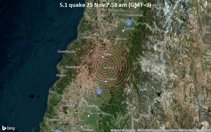 5.1 quake 25 Nov 7:58 am (GMT -3)