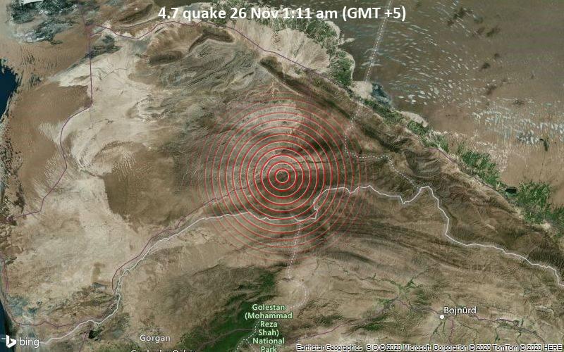 4.7 quake 26 Nov 1:11 am (GMT +5)