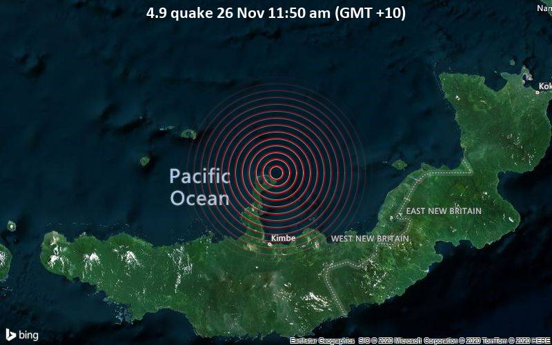 4.9 quake 26 Nov 11:50 am (GMT +10)