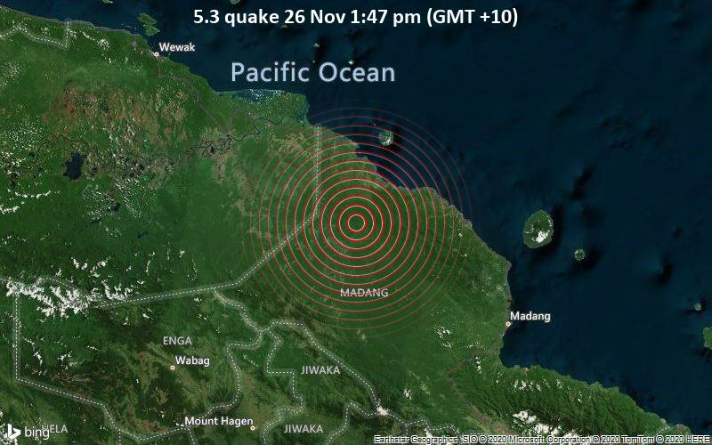 5.3 quake 26 Nov 1:47 pm (GMT +10)