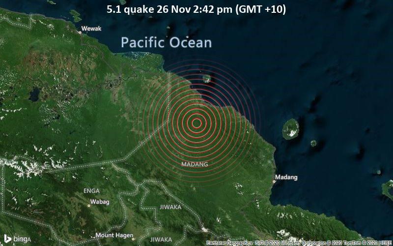 5.1 quake 26 Nov 2:42 pm (GMT +10)