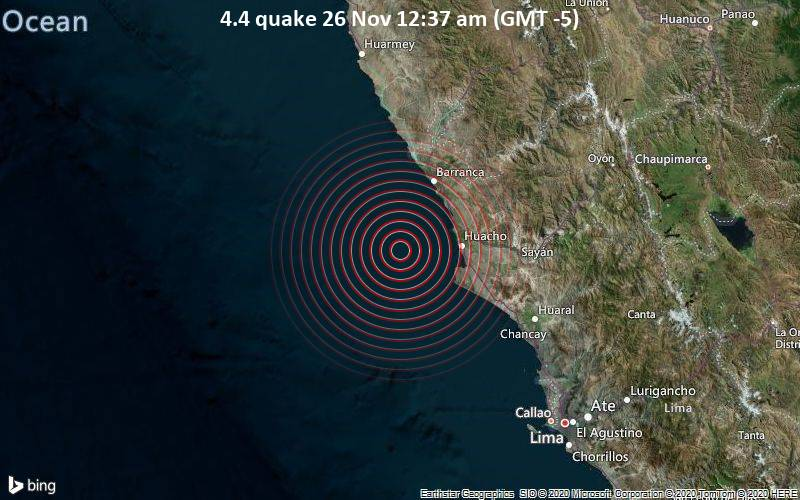 4.4 quake 26 Nov 12:37 am (GMT -5)