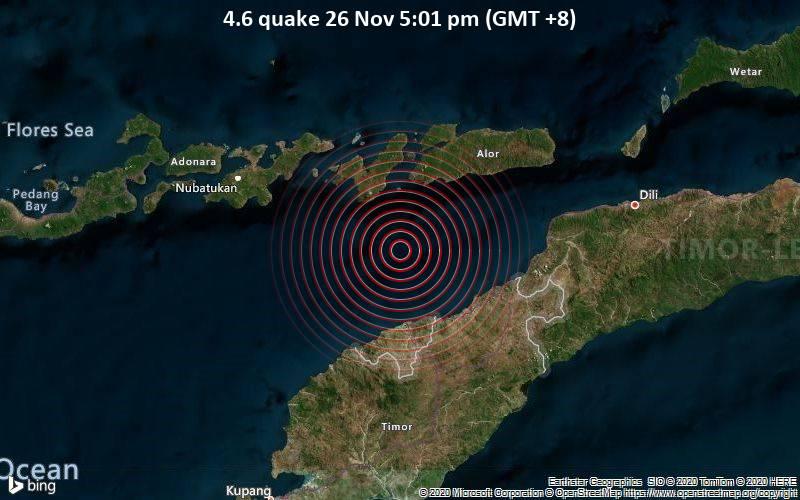 4.6 quake 26 Nov 5:01 pm (GMT +8)