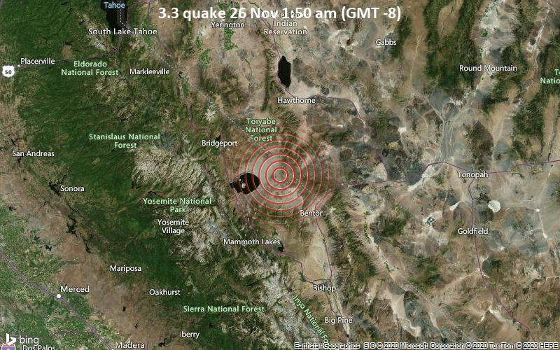 3.3 quake 26 Nov 1:50 am (GMT -8)