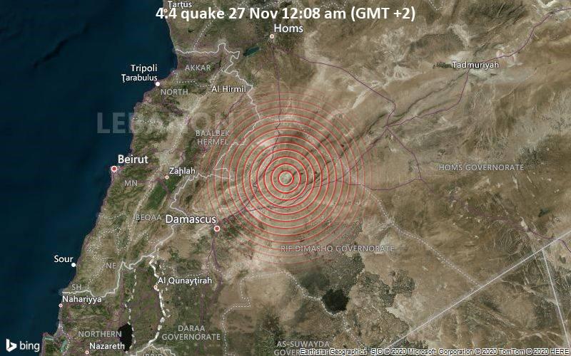 4.4 quake 27 Nov 12:08 am (GMT +2)