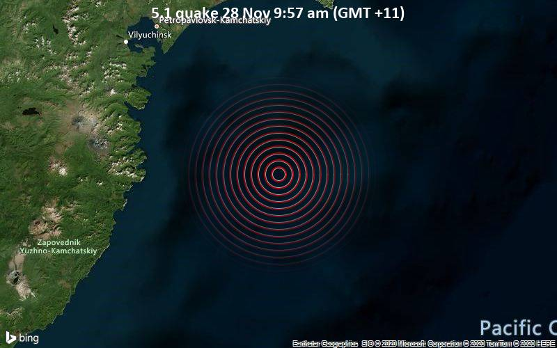 5.1 quake 28 Nov 9:57 am (GMT +11)