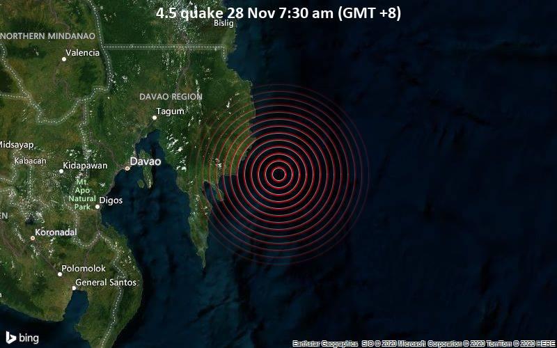 4.5 quake 28 Nov 7:30 am (GMT +8)